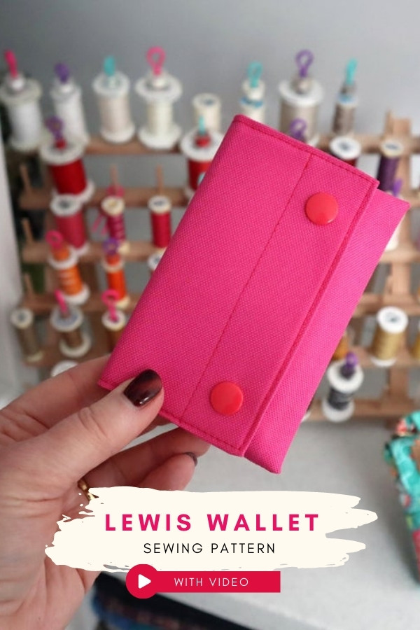Lewis Wallet sewing pattern (with video)