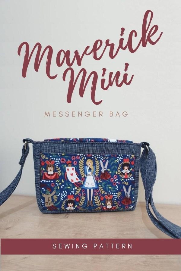Maverick Mini Messenger Bag sewing pattern