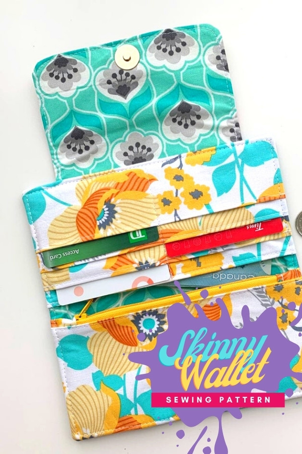 Skinny Wallet sewing pattern