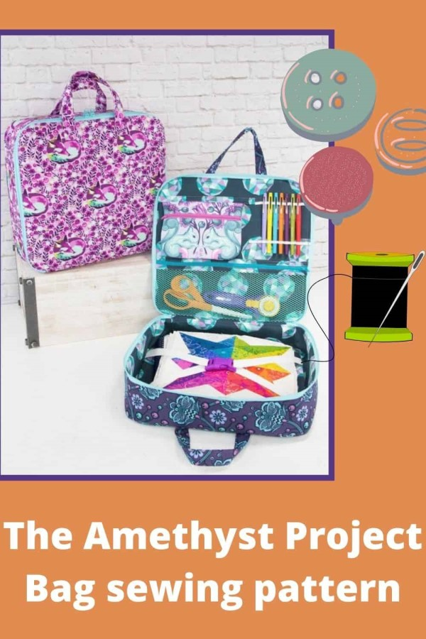 The Amethyst Project Bag sewing pattern