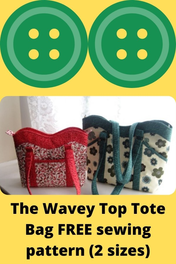 The Wavey Top Tote Bag FREE sewing pattern