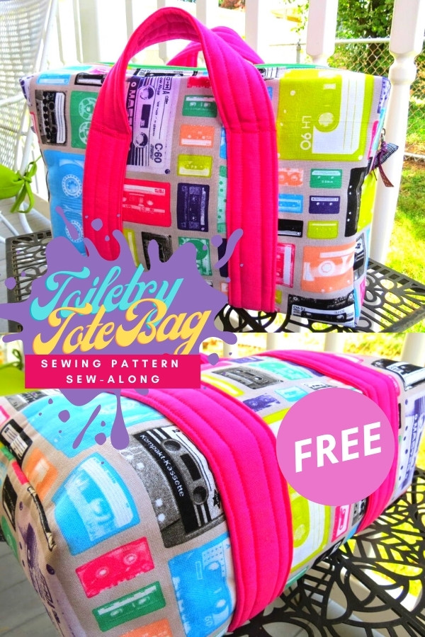 Toiletry Tote Bag FREE sewing pattern sew-along