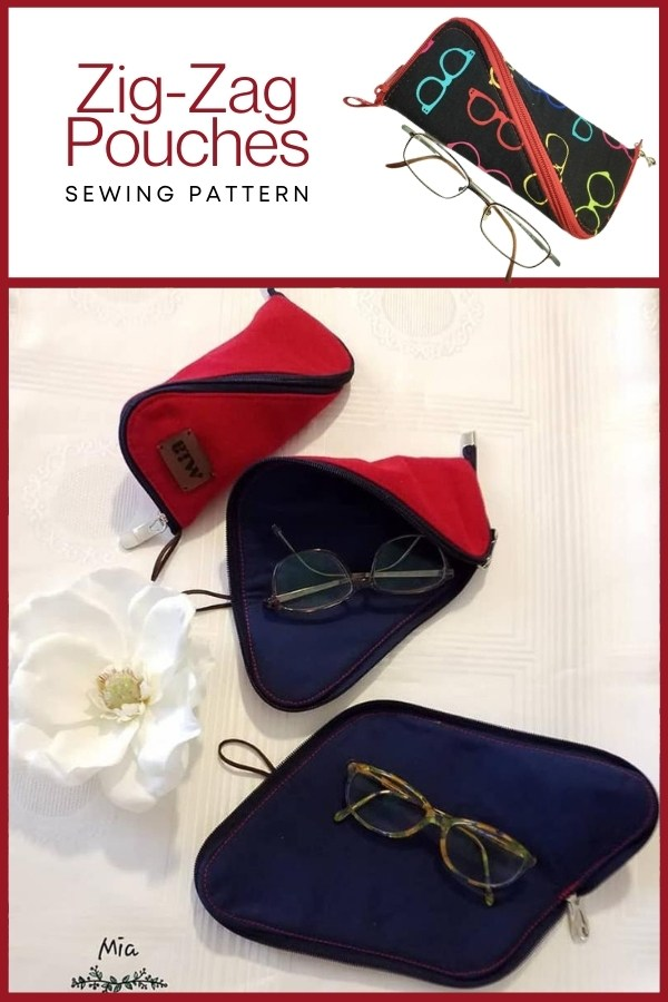 Zig-Zag Pouches (3 sizes) sewing patterns