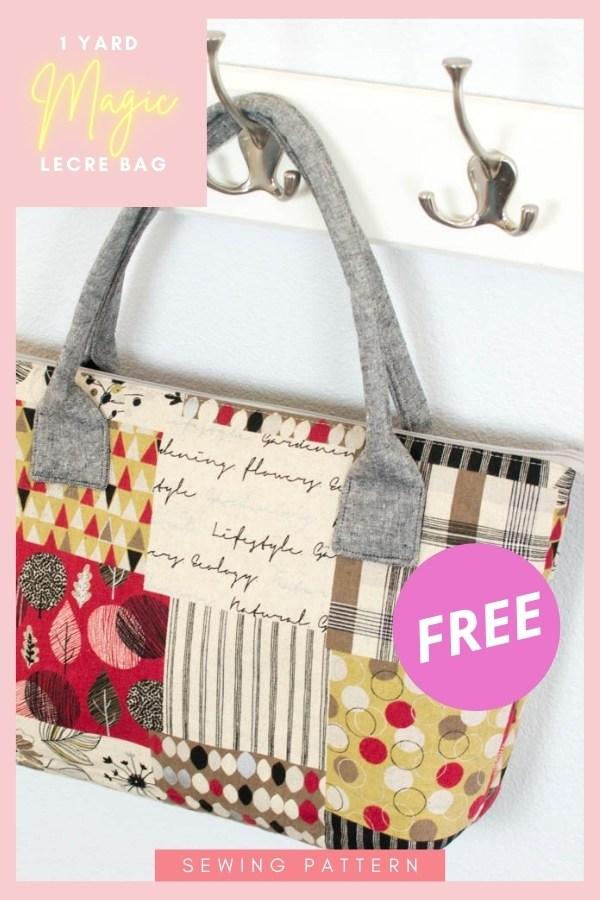 1 Yard Magic Lecre Bag FREE sewing pattern