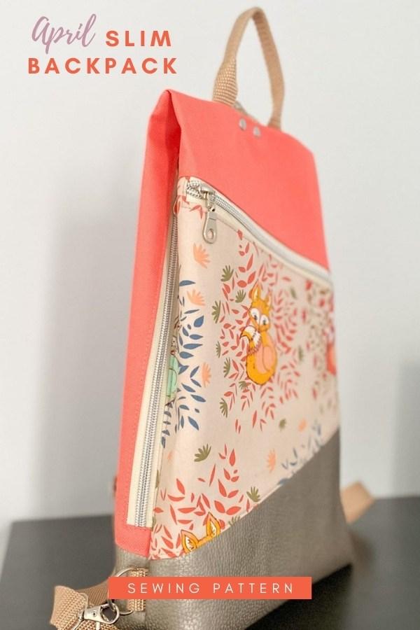 April Slim Backpack sewing pattern