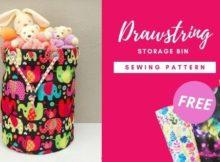 Drawstring Storage Bin FREE sewing pattern