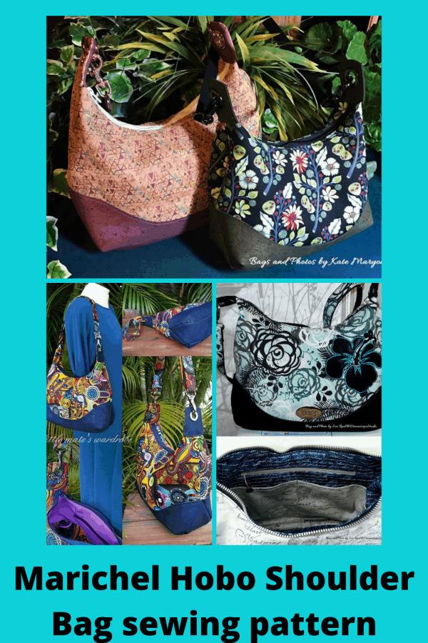 Marichel Hobo Shoulder Bag sewing pattern
