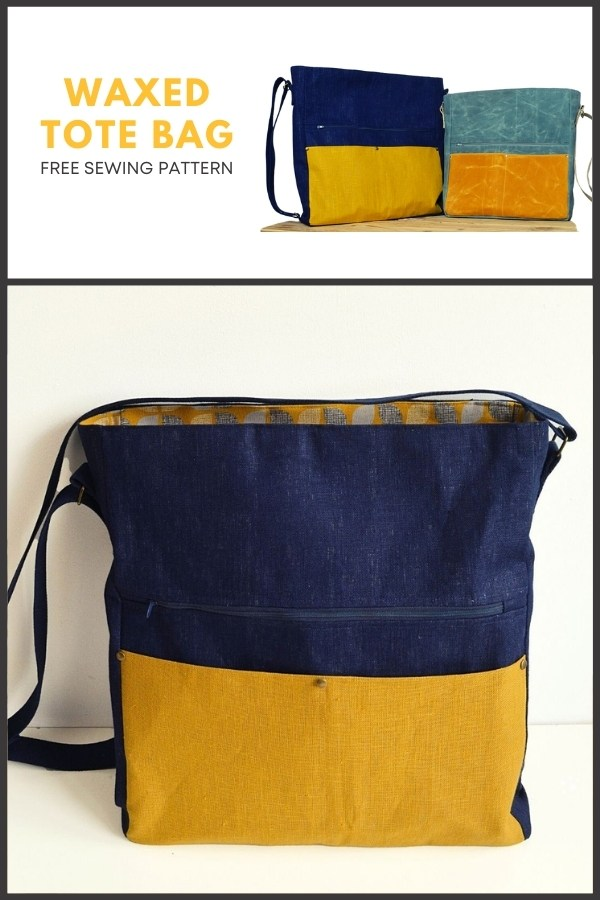 Waxed Tote Bag FREE sewing pattern