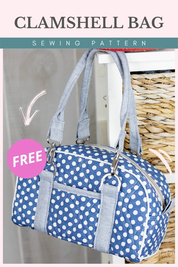 Clamshell Bag FREE sewing pattern