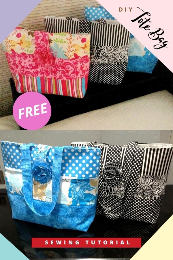 DIY Tote Bag FREE sewing tutorial