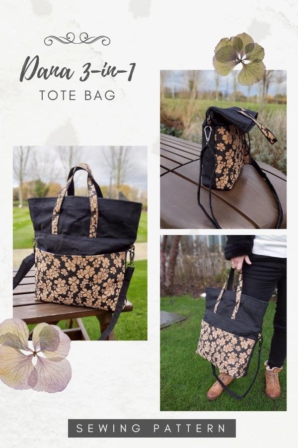 Dana 3-in-1 Tote Bag sewing pattern