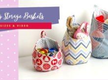 Hanging Storage Baskets (3 sizes and video)