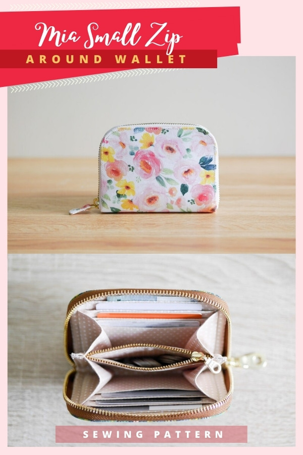 Mia Small Zip Around Wallet sewing pattern