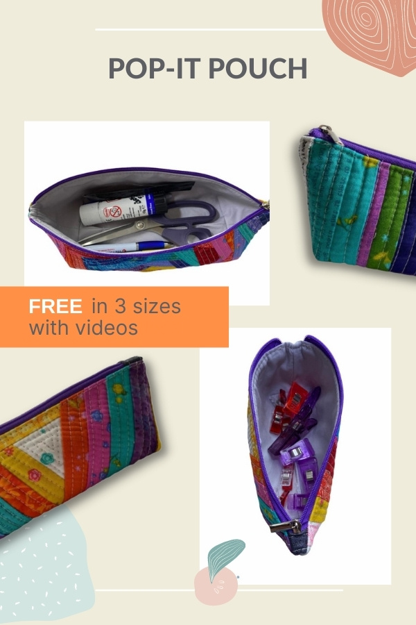 Pop-It Pouch (FREE in 3 sizes with videos)