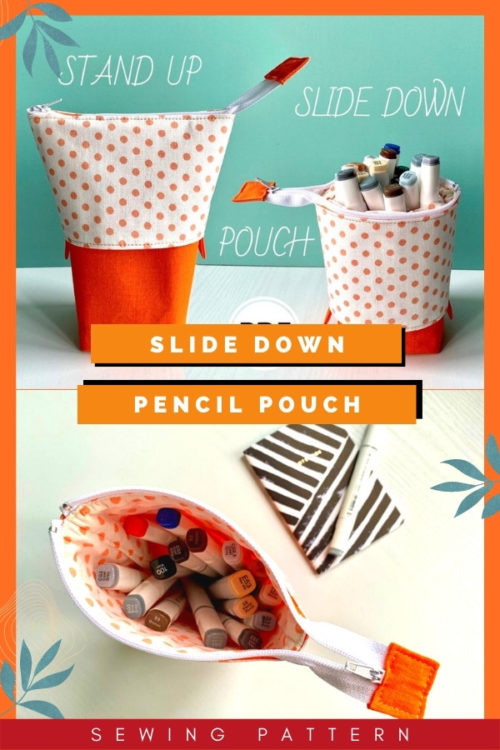 Slide Down Pencil Pouch sewing pattern