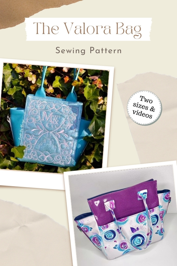 The Valora Bag sewing pattern (Two sizes and videos)