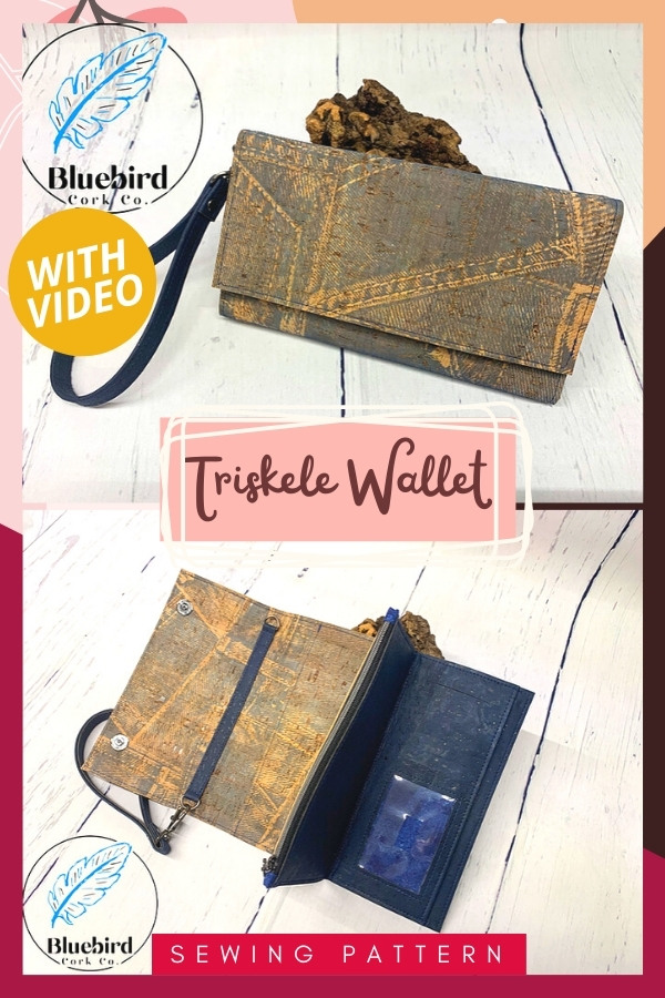 Triskele Wallet (with video) sewing pattern