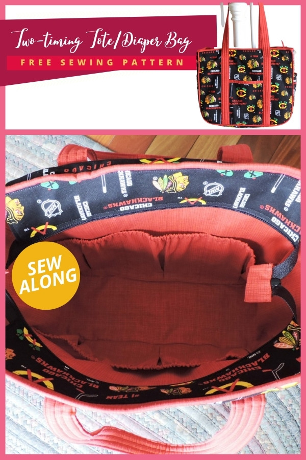 Two-timing Tote/Diaper Bag FREE sewing pattern sew-along
