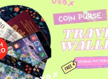 Coin Purse Travel Wallet FREE sewing pattern (with video)